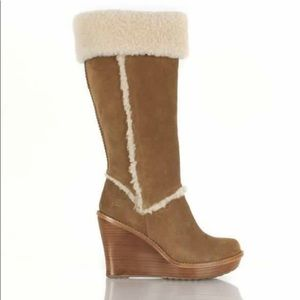 UGG Wedge Heels with Shearling